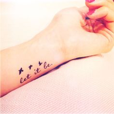 2pcs Let it be tiny birds silhouette quote tattoo - InknArt Temporary ...