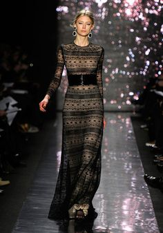 Naeem Khan Fall 2012. It's a Blake Lively dress, but I like it.  I like how covered yet not covered it is.