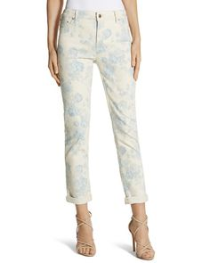 Chico's So Slimming Floral Girlfriend Crop Jean #chicos