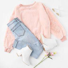 Etheral Source by outfit Cute Teen Outfits, Cute Comfy Outfits, Teenager Outfits, Cute Summer Outfits, Pretty Outfits, Stylish Outfits, Pink Outfits, Girls Fashion Clothes, Teen Fashion Outfits