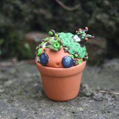 Treesarrr Green Trinket Box Cutie Pot Head por StrawberryAnarchy