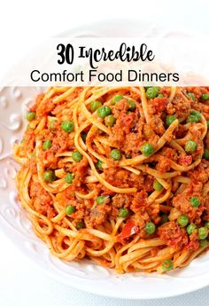 This list of 30 Incredible Comfort Food Dinners will keep you in comfort food-mode all winter long! From pasta to soup to burgers, I've got you covered!