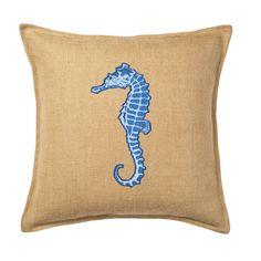 Applique Burlap Throw Pillow