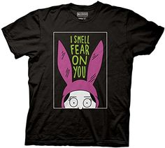 Bob's Burgers Louise I Smell The Fear On You Tee Ripple Junction L Bob's Burgers http://www.amazon.com/dp/B00V6NJ2MM/ref=cm_sw_r_pi_dp_9Aqxwb0RH0BVN