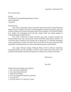 Contoh Surat Lamaran Kerja Ke Lembaga Bimbingan Belajar