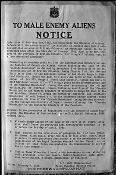 To Male Enemy Aliens 1942 Historical Images, Aliens, Day