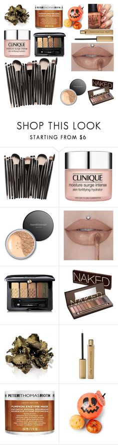 """Falling for fall"" by sdowen ❤ liked on Polyvore featuring beauty, Clinique, Bare Escentuals, Guerlain, Urban Decay, By Terry and Peter Thomas Roth"