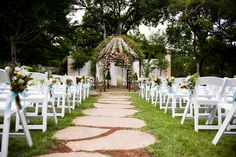 Lush Garden Ceremony Aisle at Hummingbird House