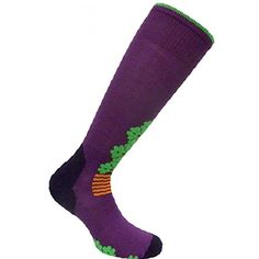 Eurosocks Women's Snowdrop Skiing Socks, Plum, Medium. SNOW DROP SKI SOCKS - Medium weight socks, second skin fit and feel, embraces the foot ensuring a snug fit, eliminating wrinkles, reducing pressure points. PERFORMANCE PROTECTION - High performance protection, Medium density padding and seamless toe pocket, relieves foot stress, eliminates swelling and numbness. FUNDAMENTAL QUALITIES - Stay up system prevents socks from sliding down, elastic arch support with ventilation channels to...