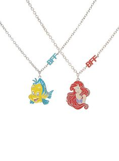 Disney The Little Mermaid BFF Necklace 2 Pack | Hot Topic my bff and i need these although we'd both want both of them