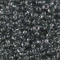 Miyuki 11/0 (2mm) Transparent Grey glass seed beads, colour number 152, a clear charcoal. UK seller.