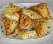 Francuskie trókąty z szynką i serem