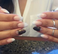Oh Sarah N. makes my nails so perf. Gel mani magic! Love my white ombré with my half moon sparkly accent nail! | Yelp