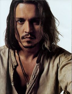 Johnny Depp, 2001, male actor, steaming hot, long hair style, sexy guy, eye candy, portrait, photo