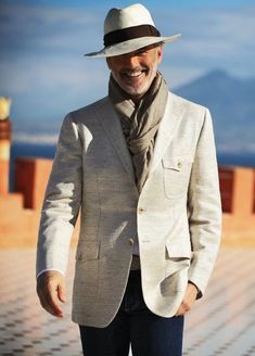 Cesare attolini - s/s 2013 uomo haute couture in 2019 older mens fashion, m Gentleman Mode, Gentleman Style, Dapper Gentleman, Gentleman Fashion, Sharp Dressed Man, Well Dressed Men, Hats For Sale, Hats For Men, Older Mens Fashion