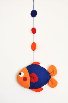 IKO Plush Fish Baby Mobile - Baby Mobiles for Crib - Nursery Fish Mobile - Felt Mobile - Colorful Fish Plush. $25.00, via Etsy.