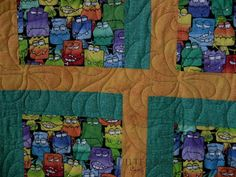 Spin Pantograph - Monster Quilt, quilted by Angela Huffman