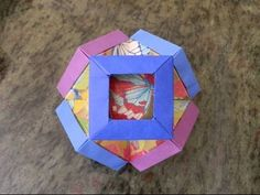 How to make an origami Gyldne Rammer Cuboctahedron designed by Martin Sejer Andersen