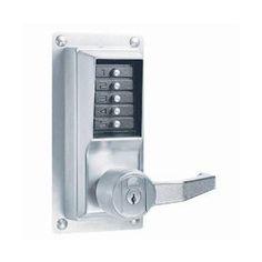 Entry With Vandal Resistant Kaba Mechanical Push Button Deadbolt 5 Button