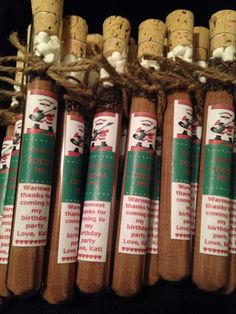 A personal favorite from my Etsy shop https://www.etsy.com/listing/214820526/hot-chocolate-test-tube-stocking