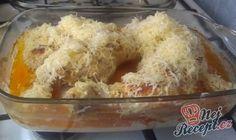 Netradiční kuřecí stehýnka na zakysané smetaně | NejRecept.cz 4 Ingredients, Confectionery, Ham, Potato Salad, Macaroni And Cheese, Rice, Potatoes, Chicken, Vegetables