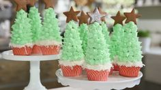 How to Make Christmas Tree Cupcakes Video