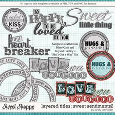 Cindy's Layered Titles - Sweet Sentiments #2 by Cindy Schneider