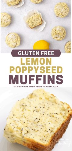 A lightly sweet and moist muffin! Healthy and gluten free, these lemon poppyseed muffins are delightful enough to enjoy as a fruity dessert or as an afternoon snack. Once cooled, muffins can be frozen to devour at a later time. Easy to follow recipe with substitutes included. #glutenfreemuffins #lemonpoppyseed #glutenfree #glutenfreesnacks #glutenfreedesserts #muffinrecipes Gluten Free Snacks, Gluten Free Baking, Gluten Free Recipes, Muffins Sans Gluten, Dessert Sans Gluten, Healthy Breakfast Muffins, Breakfast Snacks, Free Breakfast, Breakfast Ideas