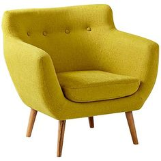 Limelight Green Upholstered Contemporary Armchair