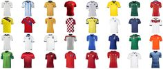 Leaked  Official: 2014 FIFA World Cup Kits