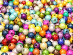 200 mixte. 3d couleur illusion miracle perles 6mm entretoise.