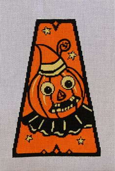 Vintage Halloween Panel-Jack O Lantern 18 mesh 5x8 in. Reg. $81, Trunk Show $64.80