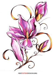 100 super cute tattoos + all about the 3 kinds of cute. Designs include flowers, texts, fairies, hearts, stars and many more tattoos of pure cuteness. Pink Flower Tattoos, Flower Tattoo Designs, Flower Designs, Cute Tattoos, Leg Tattoos, Body Art Tattoos, Tattoo Art, Hunting Tattoos, Tattoo Bein
