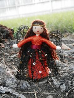 Autumn Fairy Doll Miniature Pumpkin Princess Fall Bendy Doll