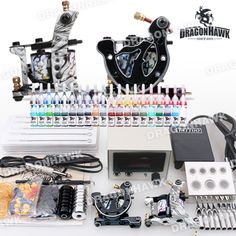 Starter Tattoo kit 2 Tattoo Machine Power Supply Needles 40 Inks D238-8 stater tattoo kit for tattoo beginner . [D238-8(2.0 USO11)] - US$62.29 : Dragonhawk tattoo supplies, tattoo kits,tattoo machines for sale global form tattoodiy.com