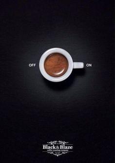 Black & Blaze Coffee: Pause-Play Ad by Inhalt&Form Werbeagentur BSW, Zurich, Switzerland. Client: The Black & Blaze Coffee Roasting Company. Creative Advertising, Ads Creative, Advertising Poster, Advertising Design, Marketing And Advertising, Creative Design, Coffee Advertising, Best Advertising Campaigns, Creative Posters