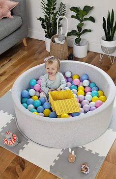 Mini Be is Exclusive to The Modern Nursery in the UK. Endless fun with the highest quality, modern and unique ball pits on the market, comes with 200 balls! Contemporary Nursery Decor, Nursery Modern, Girl Nursery, Girl Room, Playroom Storage, Playroom Ideas, Ball Pits, Pregnancy Pillow, Latest Colour