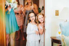 Flower girls watching bride get ready. wedding. flower girls. Josh Elliott  Photography. joshelliottstudios.com