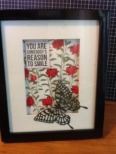 home decor as birthday present made by RCH Creation Reasons To Smile, Birthday Presents, Stampin Up, Frame, February, How To Make, Gifts, Home Decor, Ideas