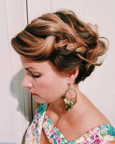 Bohemian hairdo for short hair by Susanna Poméll / healthyhair.fi