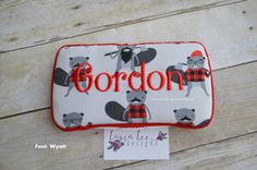READY TO SHIP Burly Beavers Travel Wipe Case by LauraLeeDesigns108