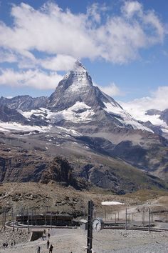 Switzerland, Zermatt Matterhorn