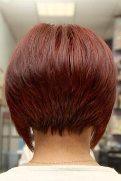Short Angled inverted Bob Hairstyles Back View