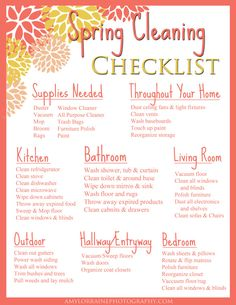 Printable Chore Chart  Cleaning    Weekly Chores
