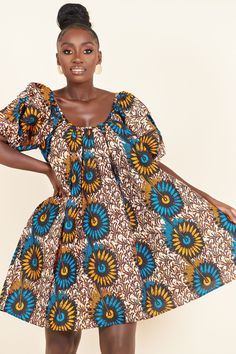 Short African Dresses, African Print Dresses, African Fashion Dresses, African Prints, Short Dresses, Wedding Dress With Pockets, Dress Pockets, Mode Wax, Style Africain