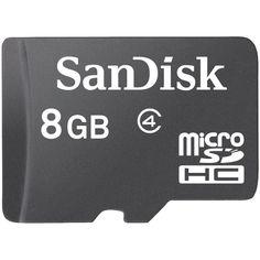 SANDISK SDSDQ-008G-A46 microSD(TM) Memory Card (8GB)