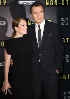 Julianne Moore and Liam Neeson – 'Non Stop' Paris Premiere #2014