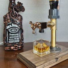 Whiskey Dispenser Liquor Gin Wine Alcohol mini Bar. | Etsy Regalos Jack Daniels, Jack Daniels Gifts, Whiskey Dispenser, Alcohol Dispenser, Whisky Spender, Jack Daniels Birthday, Shellac Finish, Copper Art, Copper Pipes