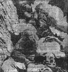 PAG Island. Pit filled with bodies of dead Serbs and Jews