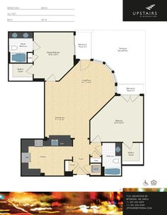 Two bedroom, two bath w/ den, 1,263 square feet.